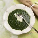 zupa szpinakowa z rikottą